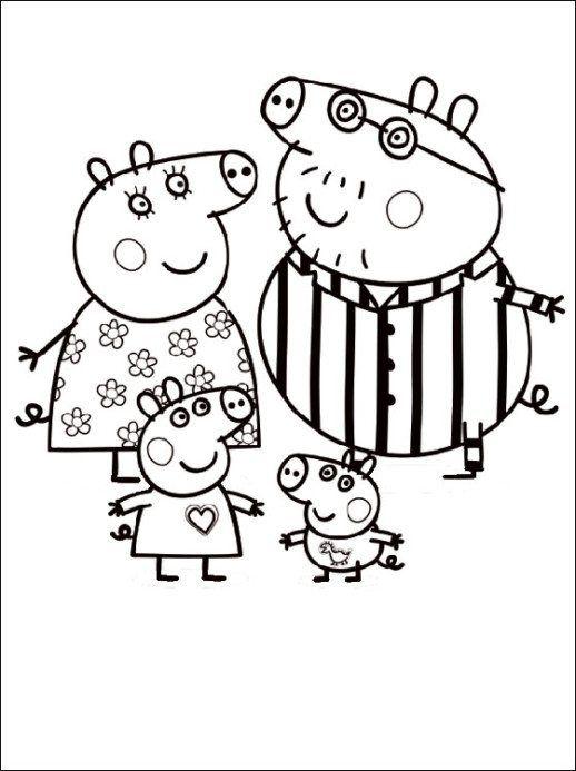 Kids Peppa Pig Coloring In Pages Mit Bildern Ausmalbilder Peppa Pig Familie Ausmalen