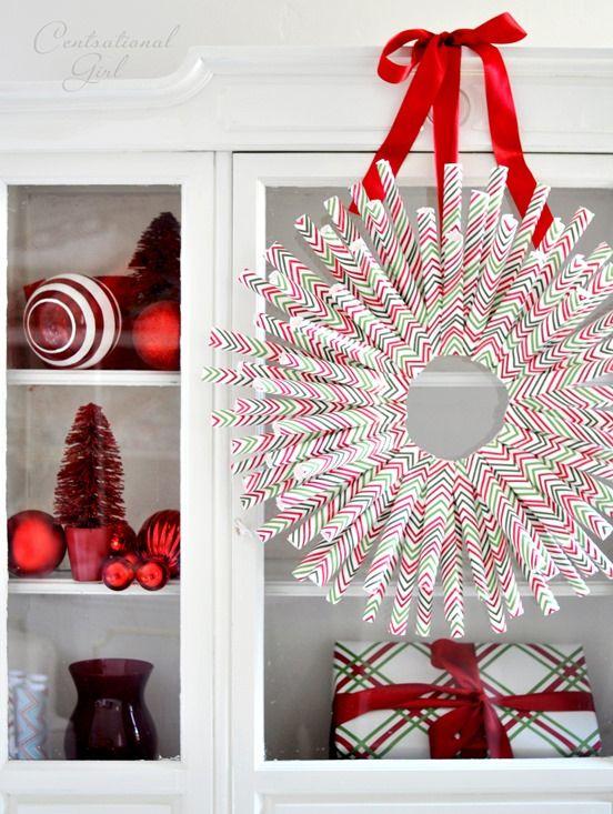diy gift wrap wreath CS Blog Images  Posts Pinterest Wreaths