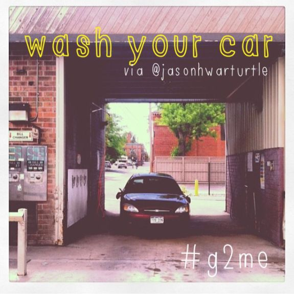 Wash your car // The Good to Me Experiment