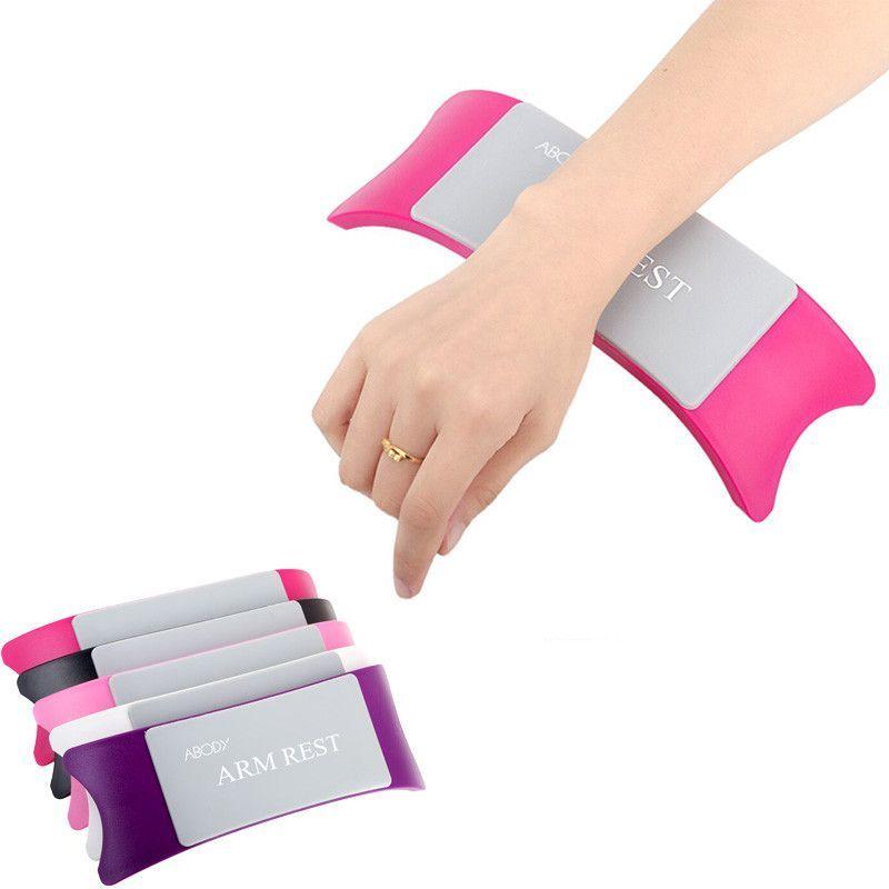 Comfortable Nail Art Pillow Hand Holder Cushion Plastic Silicone Cushion Nail Arm Rest Manicure Accessories Tool E Hand Pillow Accessories Tools Pillow Art