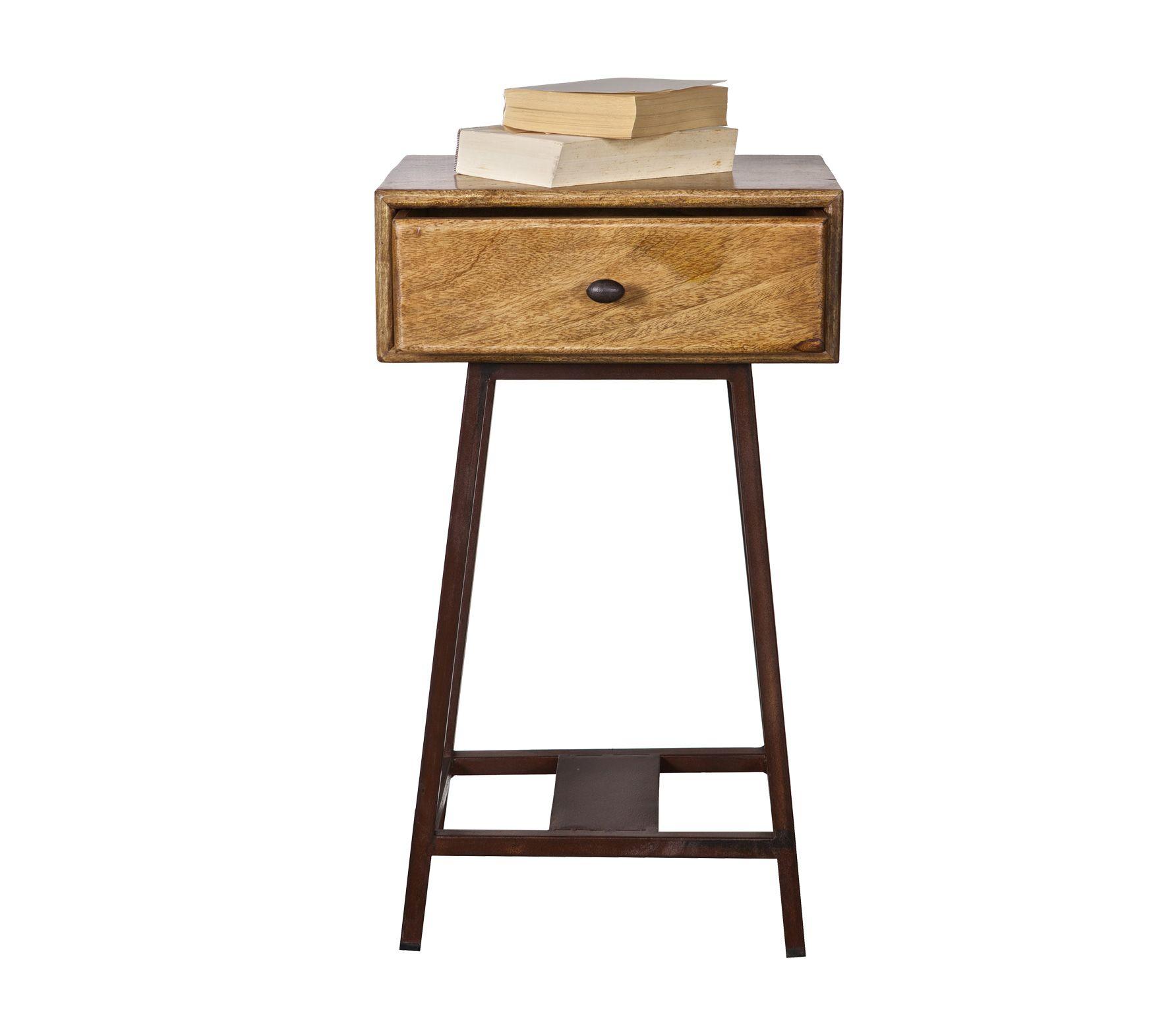 Side Table Bruin.Bepurehome Skybox Vintage Sidetable Blank Gelakt Bruin