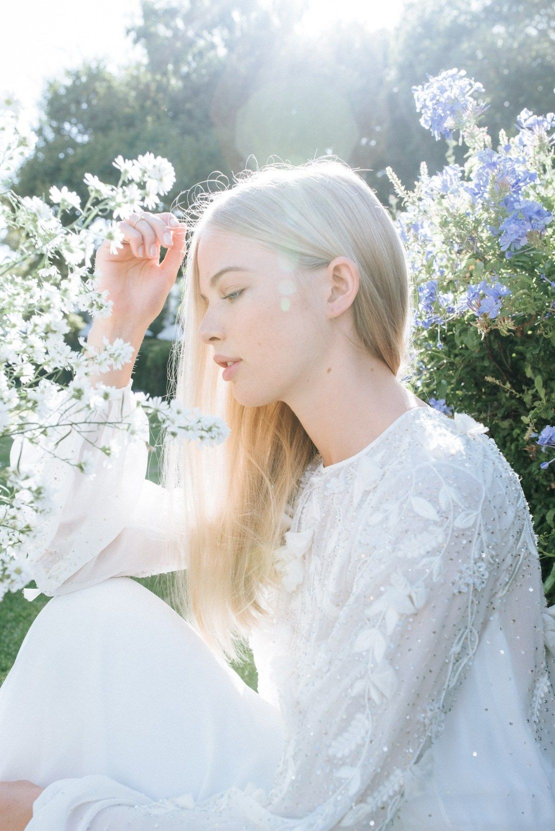 Ethereal florals wedding dresses for the cool bride