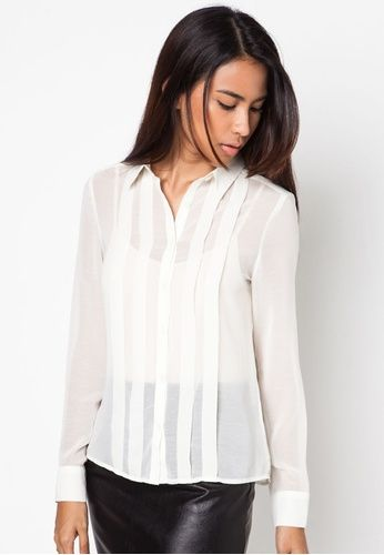 c1aed11343f24 Pleated Chiffon Blouse Online Fashion Stores