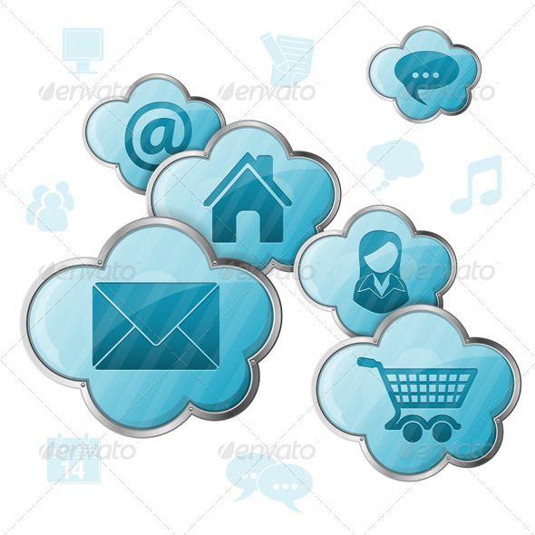 Cloud Computing Cloud Computing Application Icon Clouds