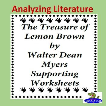 The Treasure of Lemon Brown Supporting Worksheets | Lots and Lots of ...