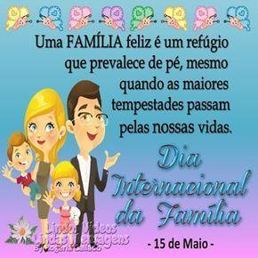 Dia Internacional Da Familia 15 De Maio Feliz Dia Da Familia