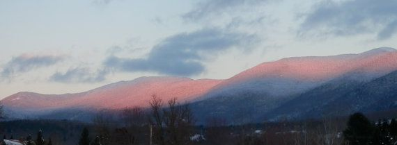 Beautiful Sunset on the Worcester Mountain Range in Waterbury, VT.