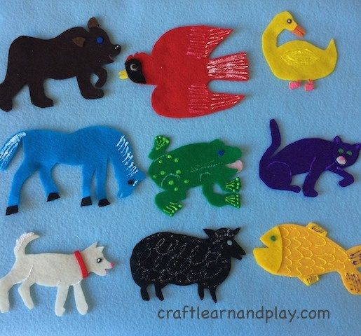 Brown Bear Brown Bear What Do You See Felt Board Template With