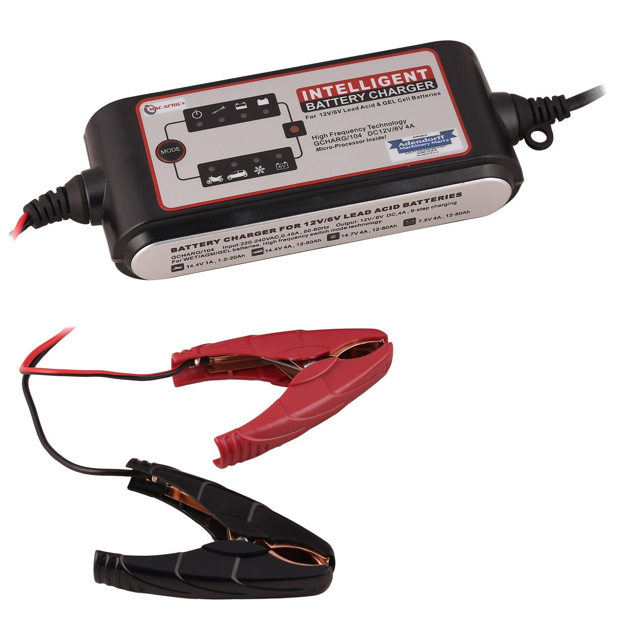 Mac Afric Dc 12v 6v 4 A Intelligent Battery Charger Battery Charger Charger Battery