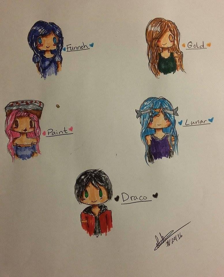 Itsfunneh Gang Chibis By Suki Angel On Deviantart Fan Art