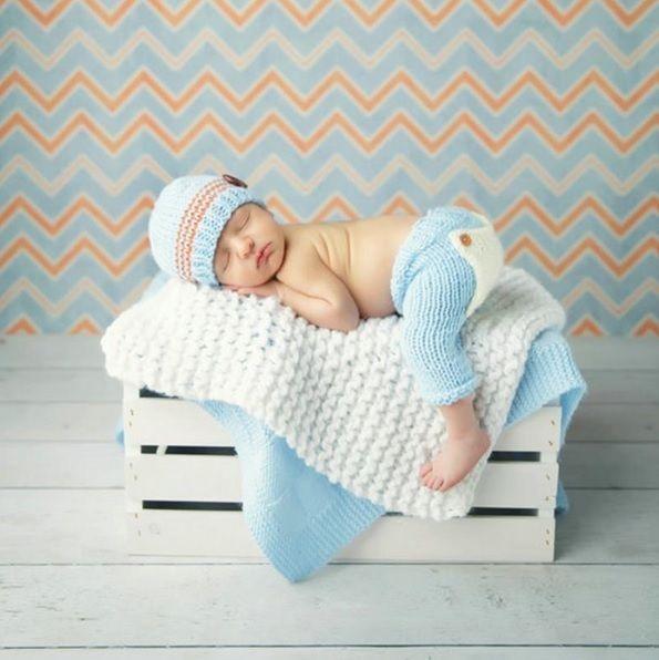 details zu baby strickm tze neugeborenen fotoshooting newborn fotografie foto tom hellblau. Black Bedroom Furniture Sets. Home Design Ideas