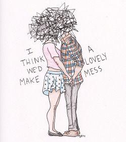 Tumblr Couple Drawing