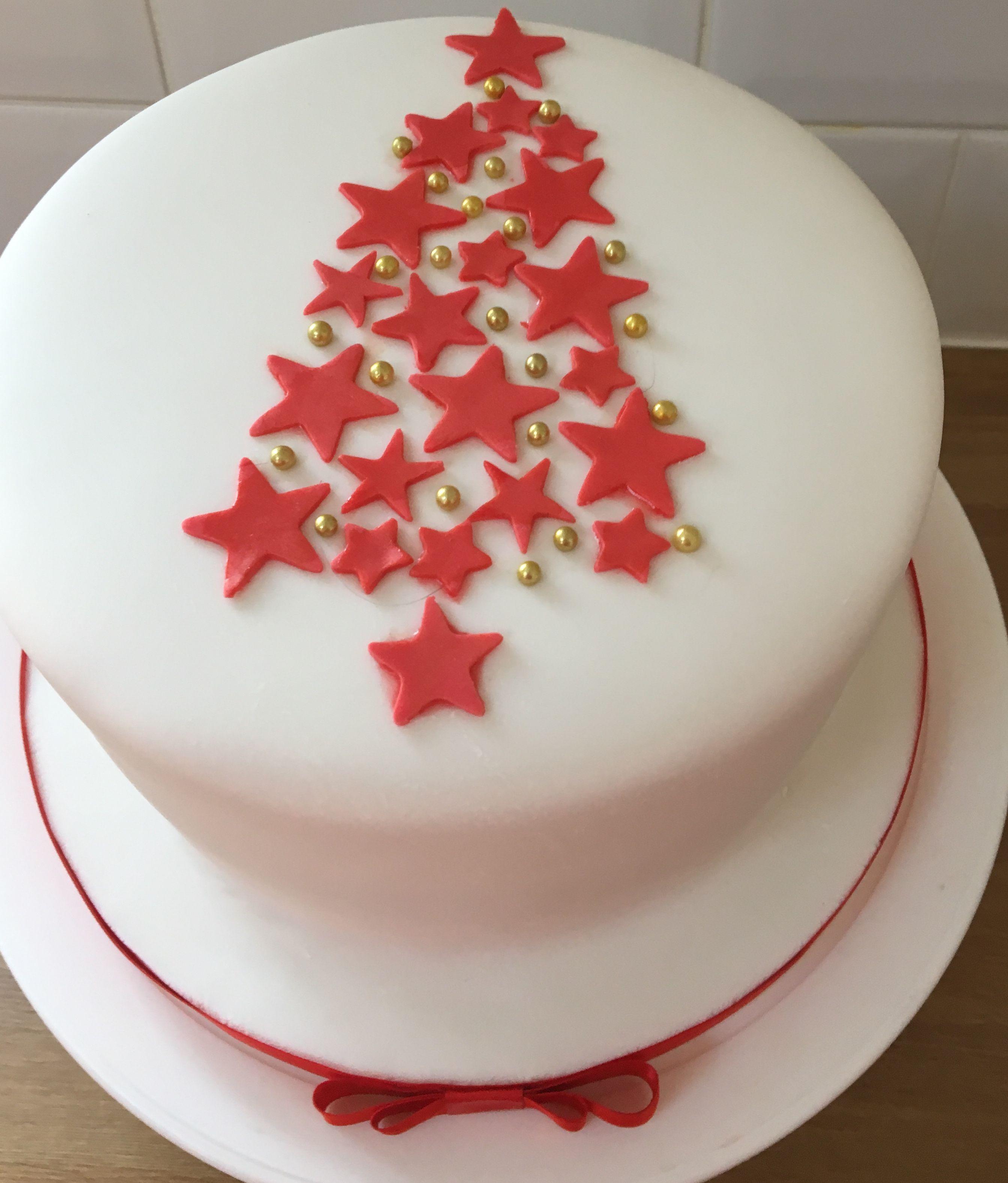 Simple Christmas Tree Christmas Cake 2