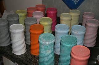 artes.com: Passo a passo latinhas recicladas