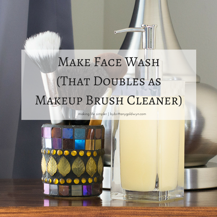 make face wash that doubles as makeup brush cleaner. Black Bedroom Furniture Sets. Home Design Ideas