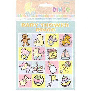 Baby Shower Bingo Game - Baby Shower Games