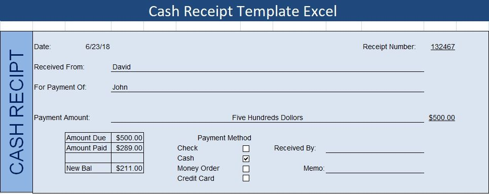 Cash Receipt Template Excel Excel Spreadsheets Templates Spreadsheet Template Excel