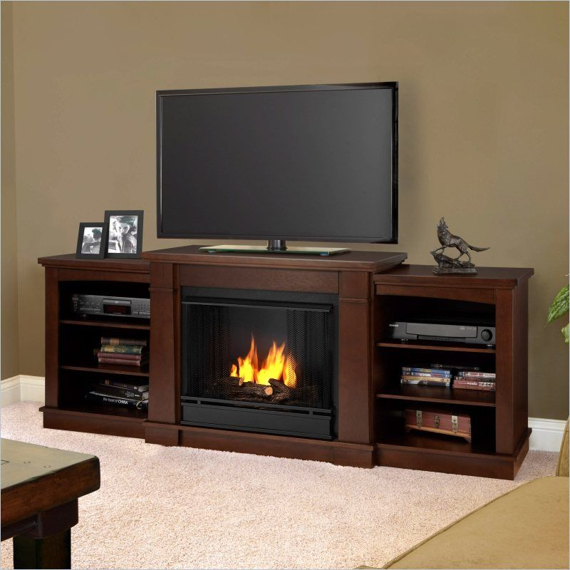 Real Flame Hawthorne Gel Fireplace Tv Stand In Dark Espresso