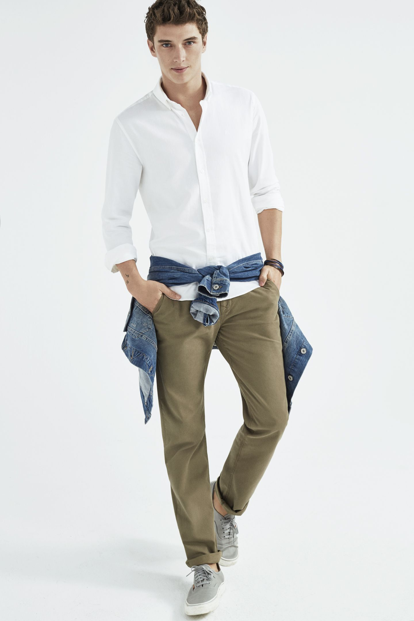 Navy Oxford Cotton Chino Enlist