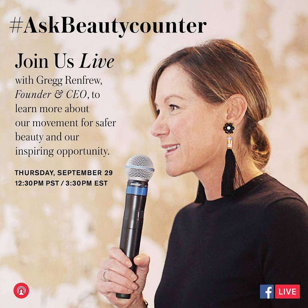 Come see why everyone is talking about Beautycounter! We are more than a beauty company. We are a movement for safer beauty! Best. Decision. Ever  Join Facebook TODAY and listen to Gregg Renfrew Founder and CEO of Beautycounter!  Click here to join the live event at 3:30 EST!  http://ift.tt/2dnIiVW  #AskBeatycounter #jointhemovement  #joinmyteam  #betterbeauty #mywhy #directsales