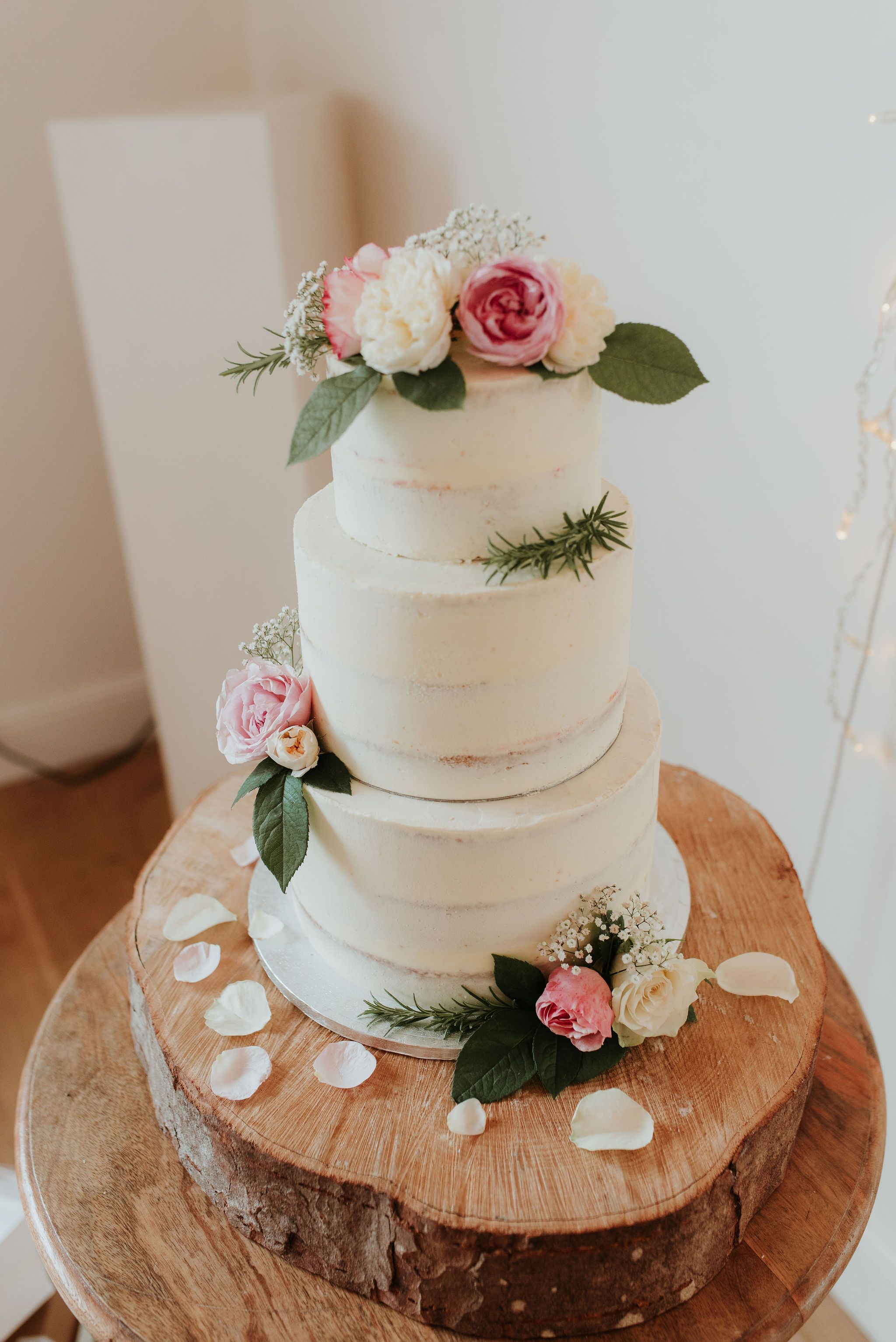 Three Tier Buttercream Wedding Cake Created By Simply Delish