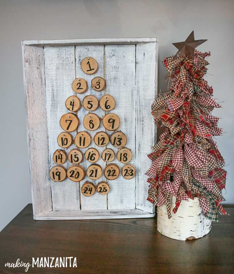 Christmas Fabric Craft Ideas Part - 49: How To Make Primitive Mini Christmas Trees With Homespun Fabric