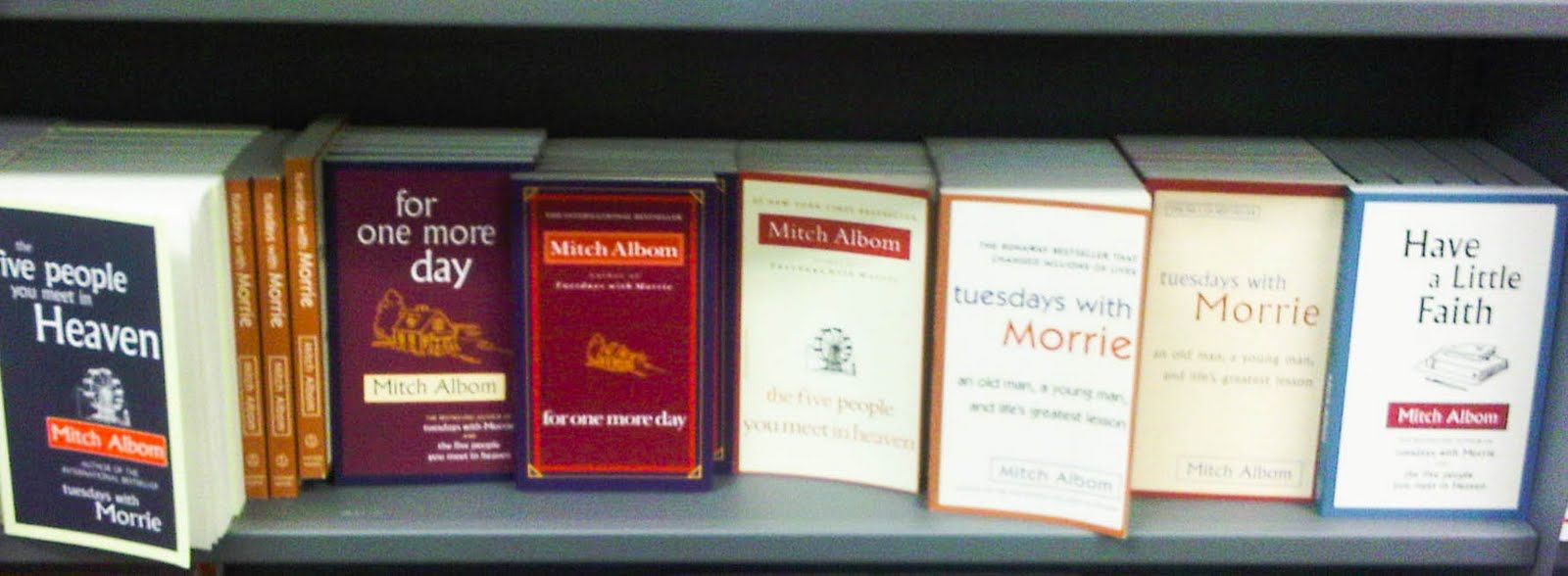 Any book by mitch albom tuesdays with morrie the five