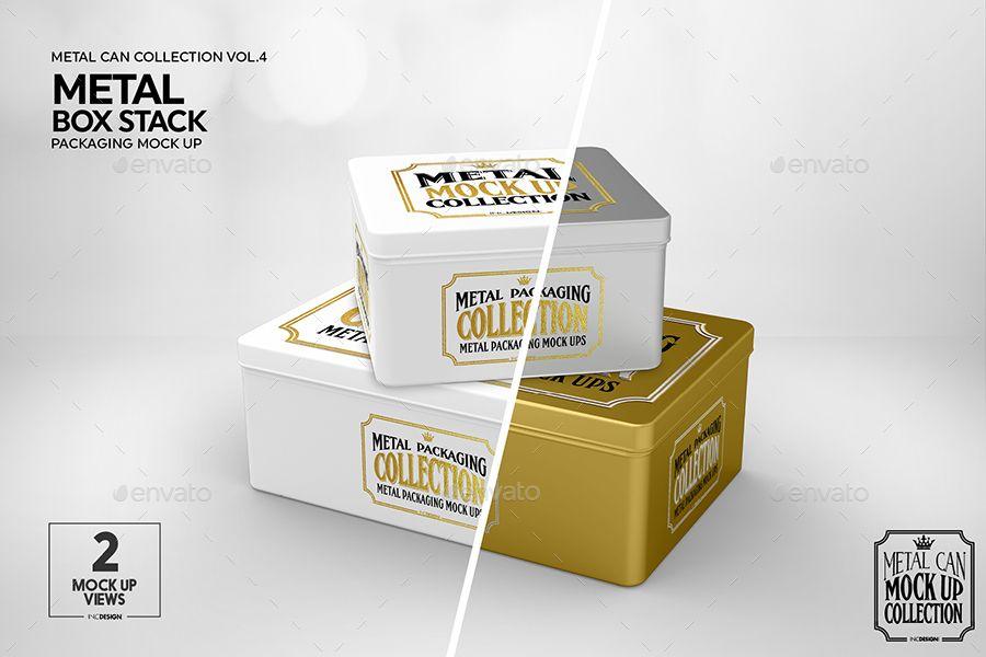 Download Metal Box Stack Packaging Mockup Packaging Mockup Metal Box Business Card Mock Up