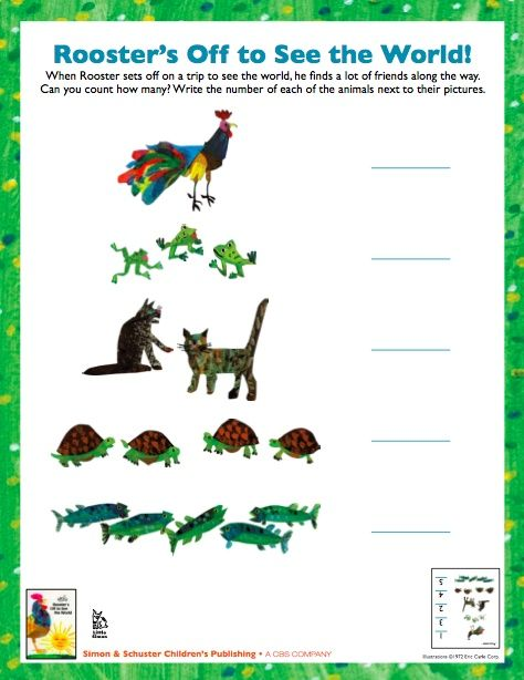 Edit To Use As Writing Response For Rooster S Off To See The World Eric Carle Activities Eric Carle Art Preschool Activities