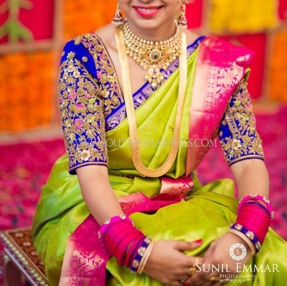 Bride in South Indian Jewellery Indian bridal jewelry Indian