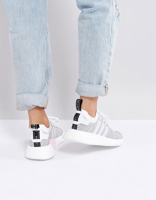26f14ef57 adidas Originals NMD R2 Sneakers In White And Black