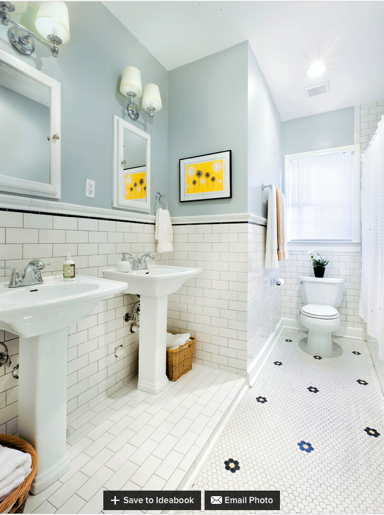 1930's style Bathroom - walls can be easily repainted | For the Home on 1930s rustic style, 1957 kitchen style, 1930's decorating style, 1930 bathroom remodel, 1900 furniture style, 1930 bathroom color, 1930 bathroom tile, 1930s bungalow style, 1930 bathroom trends,