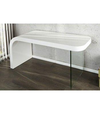 OPTIC   design desk white high gloss glass home office table   www neofurn. OPTIC   design desk white high gloss glass home office table   www