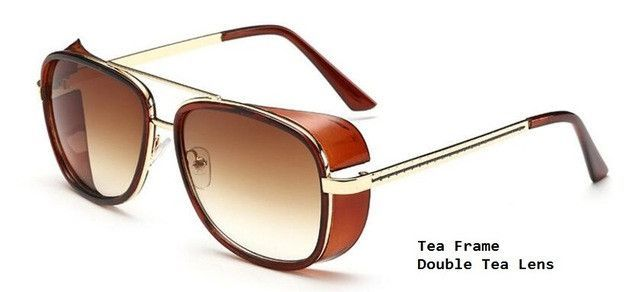 e8595d86ae Tony Stark Iron Man Sunglasses Men Eyewear Mirror Punk Sun Glasses Vintage  Male Sunglasses Steampunk