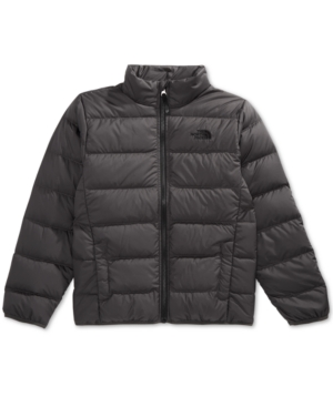 2d77645b83 The North Face Little   Bib Boys Andes Zip-Up Puffer Jacket - Gray XXS