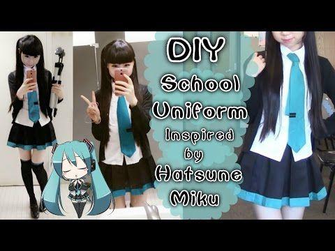 Diy Hatsune Miku Inspired Daily School Uniform Easy Cosplay Diy Miku Cosplay School Diy