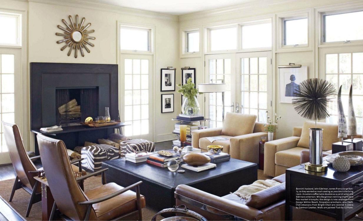 masculine living room. John and Bonnie Edelman | Home sweet home ...