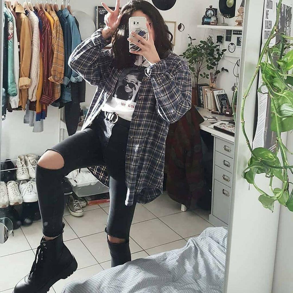 20+ idee insolite di abiti grunge per le donne da provare in questa stagione #grungeoutfits Fas