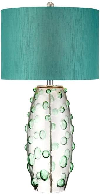 Possini Euro Design Teal Art Glass Table Lamp #interior_design #table_lamp See more... http://www.eurostylelighting.com/table+lamps-category/search.htm