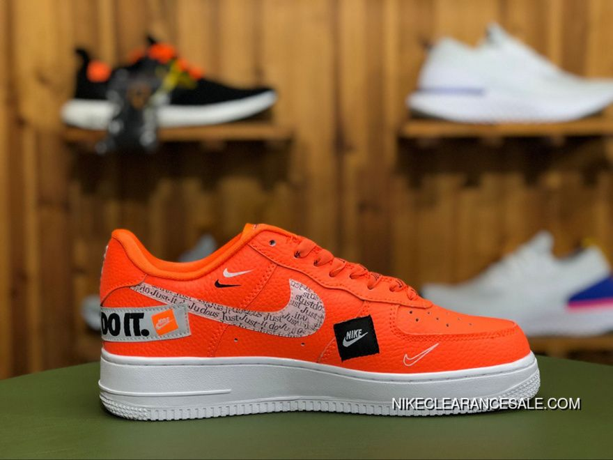 Nike Air Force 1 Low 07 Premium Just Do It Pack Total Orange Af1