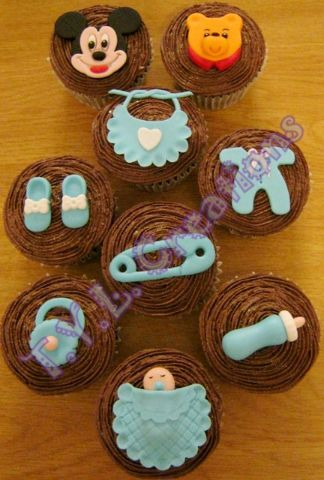stork tea cupcakes