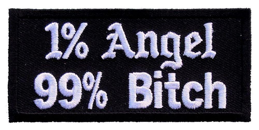 Photo of 1% Angel 99% Bitch Lady Biker Patch