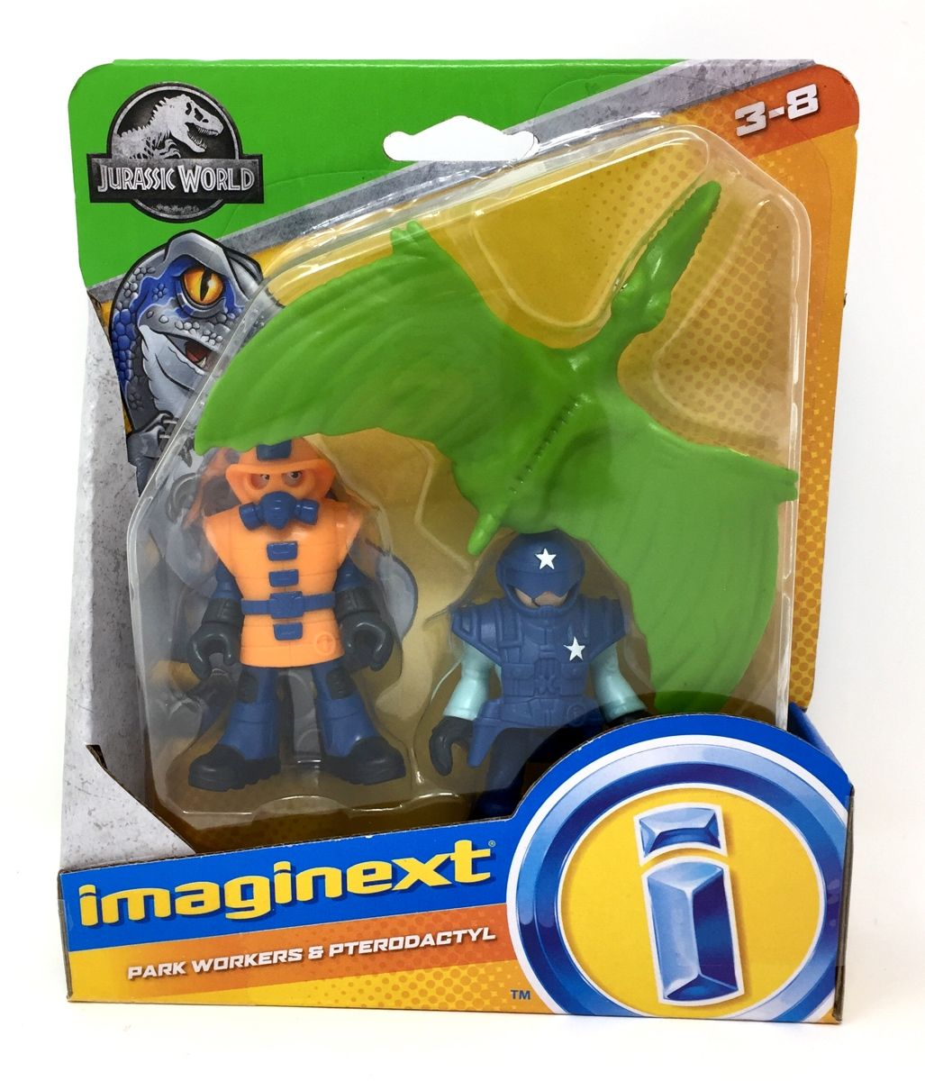 Imaginext Jurassic Park Workers and Pterodectyl #jurassicparkworld