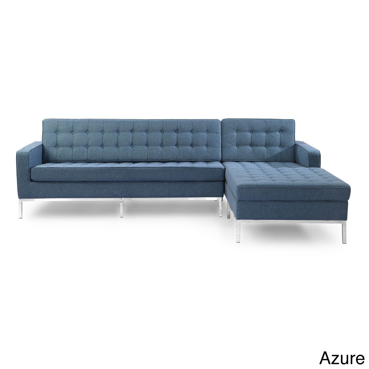 Kardiel Florence Knoll Style Houndstooth Twill Right-facing Sofa Sectional  sc 1 st  Pinterest : knoll sectional - Sectionals, Sofas & Couches
