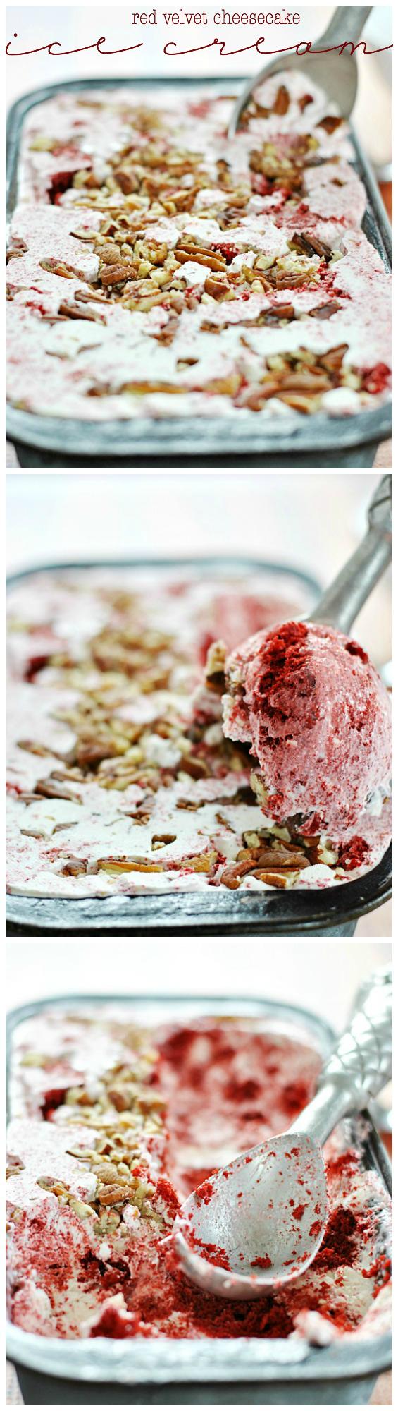 Red Velvet Cheesecake Ice Cream   www.somethingswanky.com