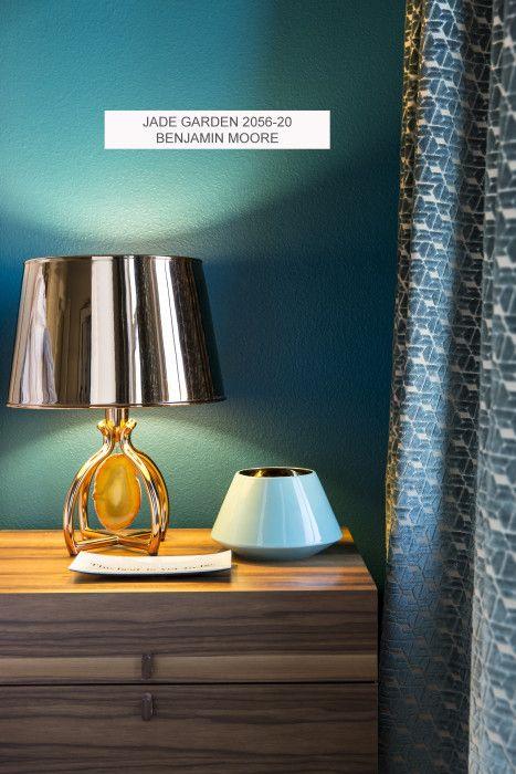Jade Garden Benjamin Moore Eclectic Bedroom Design Eclectic