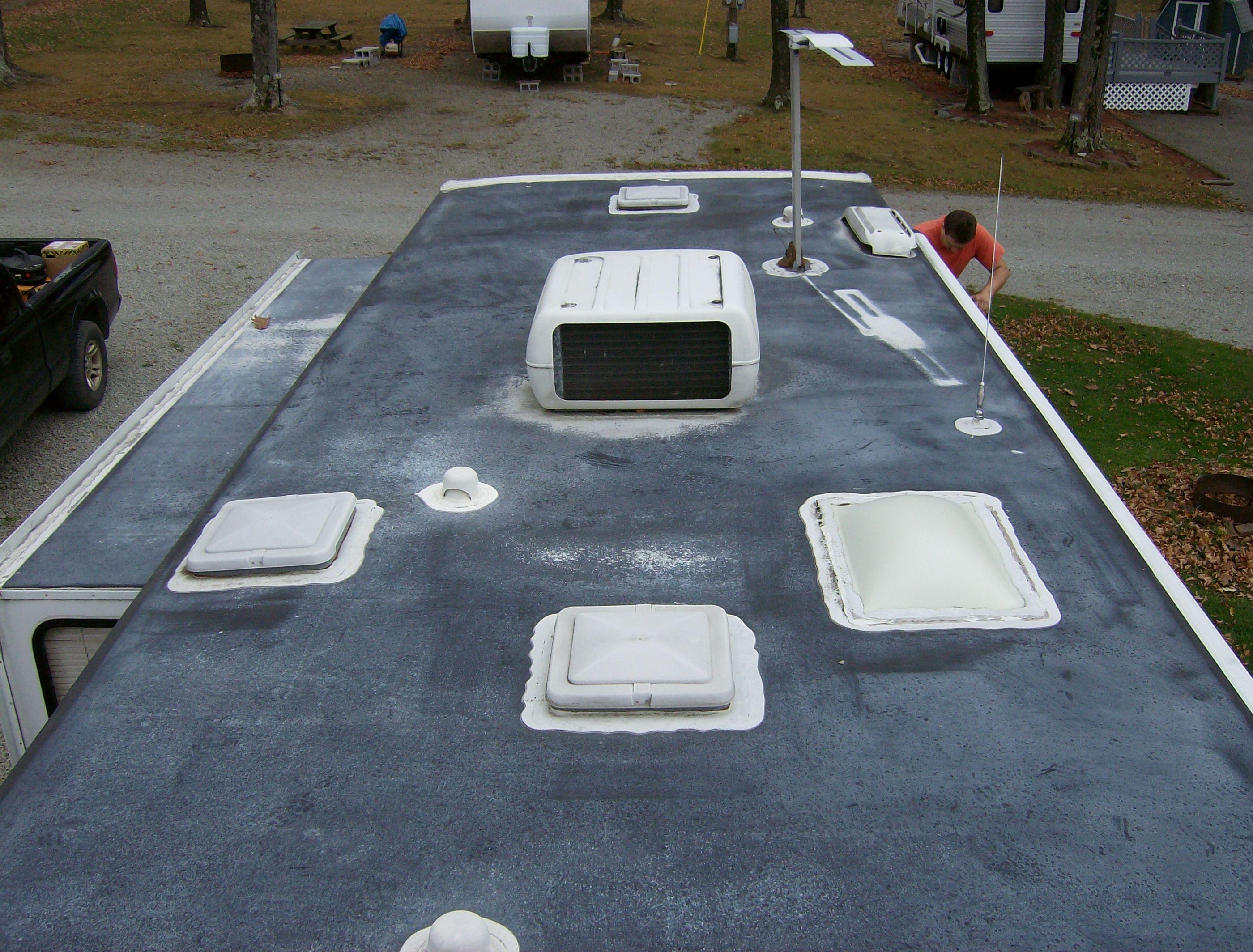 Few Tips You Must Need To Know Before Applying Liquid Roof Coatings Rv Roof Repair Roof Leak Repair Roof Repair