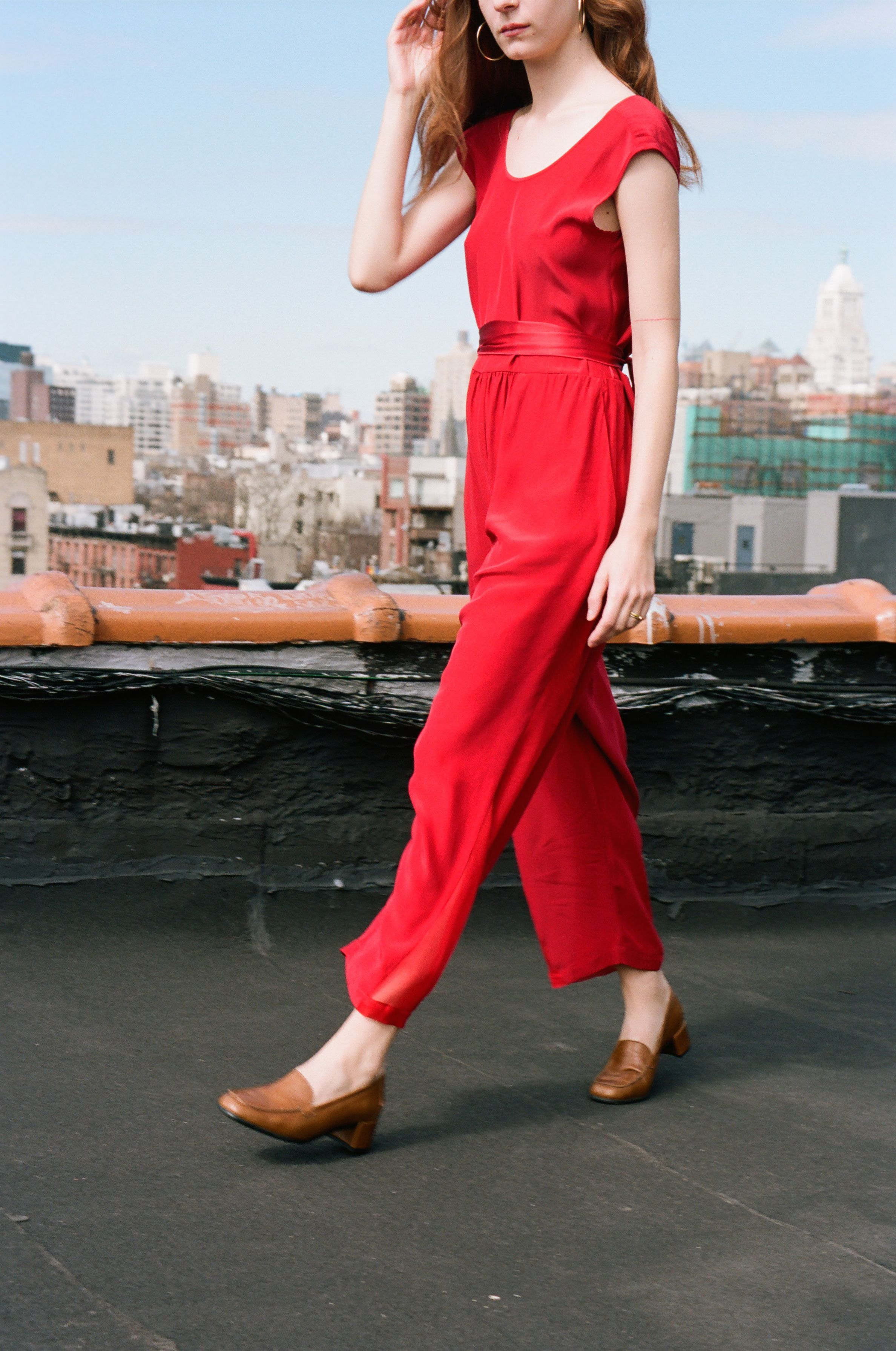 4e966bce3a0 Zaga (@grau) wearing our Russian Red Judo Jumpsuit. Pic by Ana Kras ~ Shoes  by About Arianne