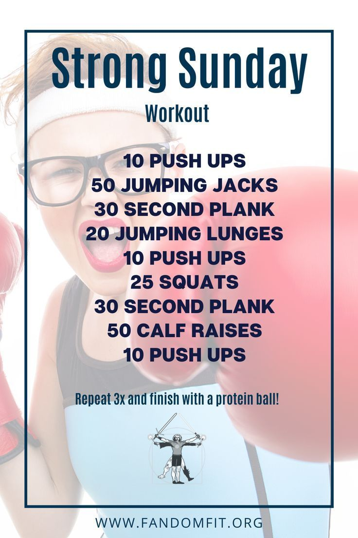 """Try out this """"Strong Sunday"""" fitness routine to get your body in shape. FandomFit 