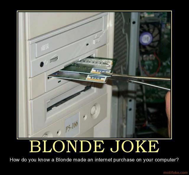 Blonde Jokes, Bloopers, Shopping Humor